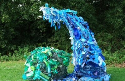 Rubbish Sculpture at Ferry Meadows